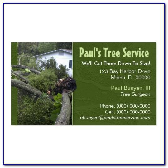 Tree Company Business Card Template