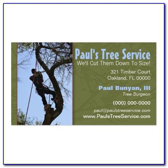 Tree Service Business Cards Templates