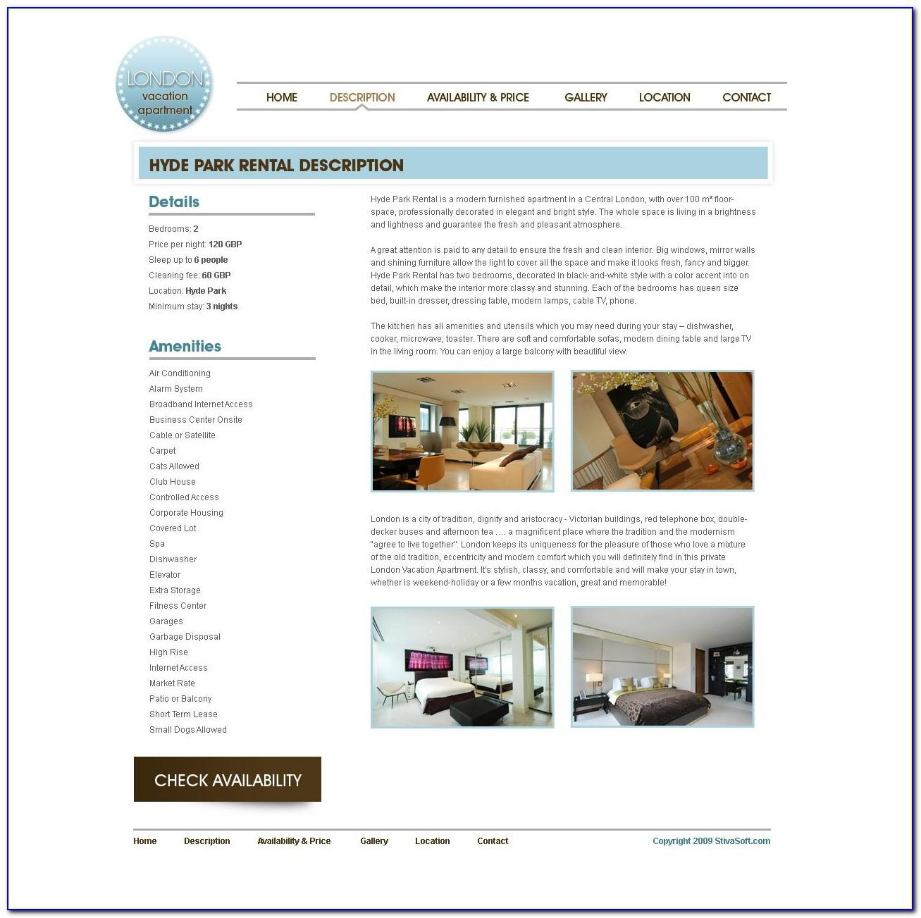 Vacation Rental Home Website Template
