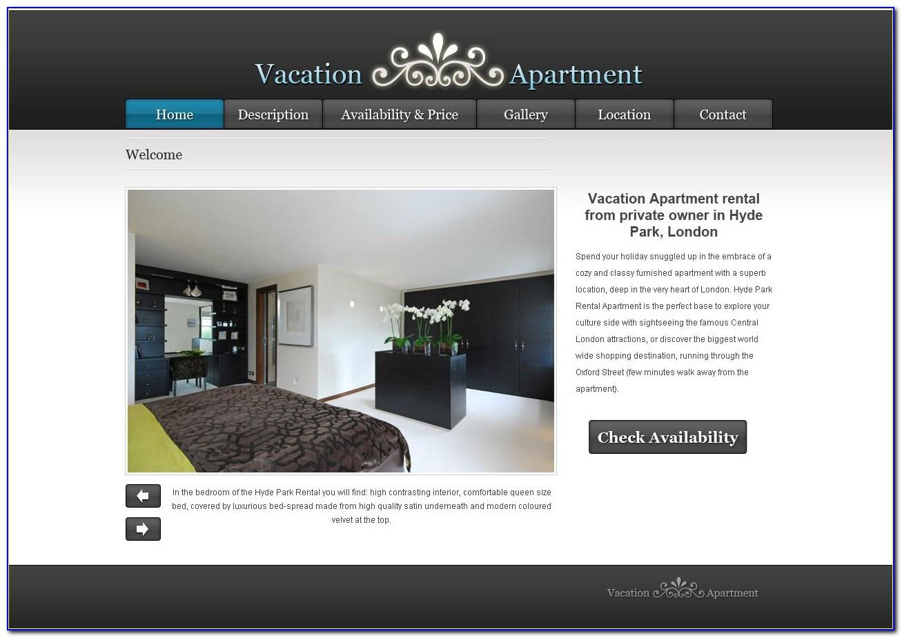 Vacation Rental Property Website Template