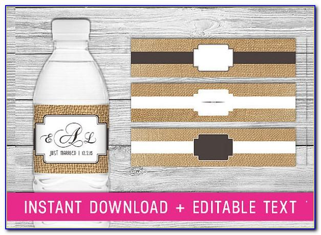 Water Bottle Labels Template Free Birthday