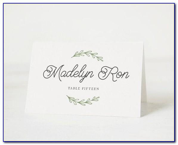 Wedding Place Card Template Microsoft Word