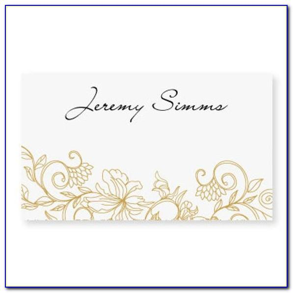Wedding Place Card Template Word Free