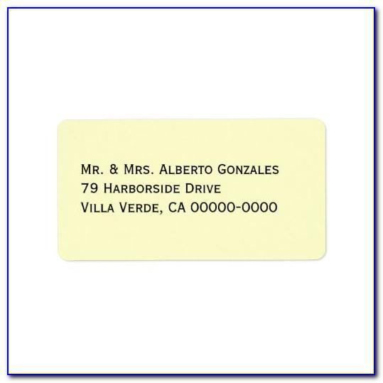 White Address Labels Template