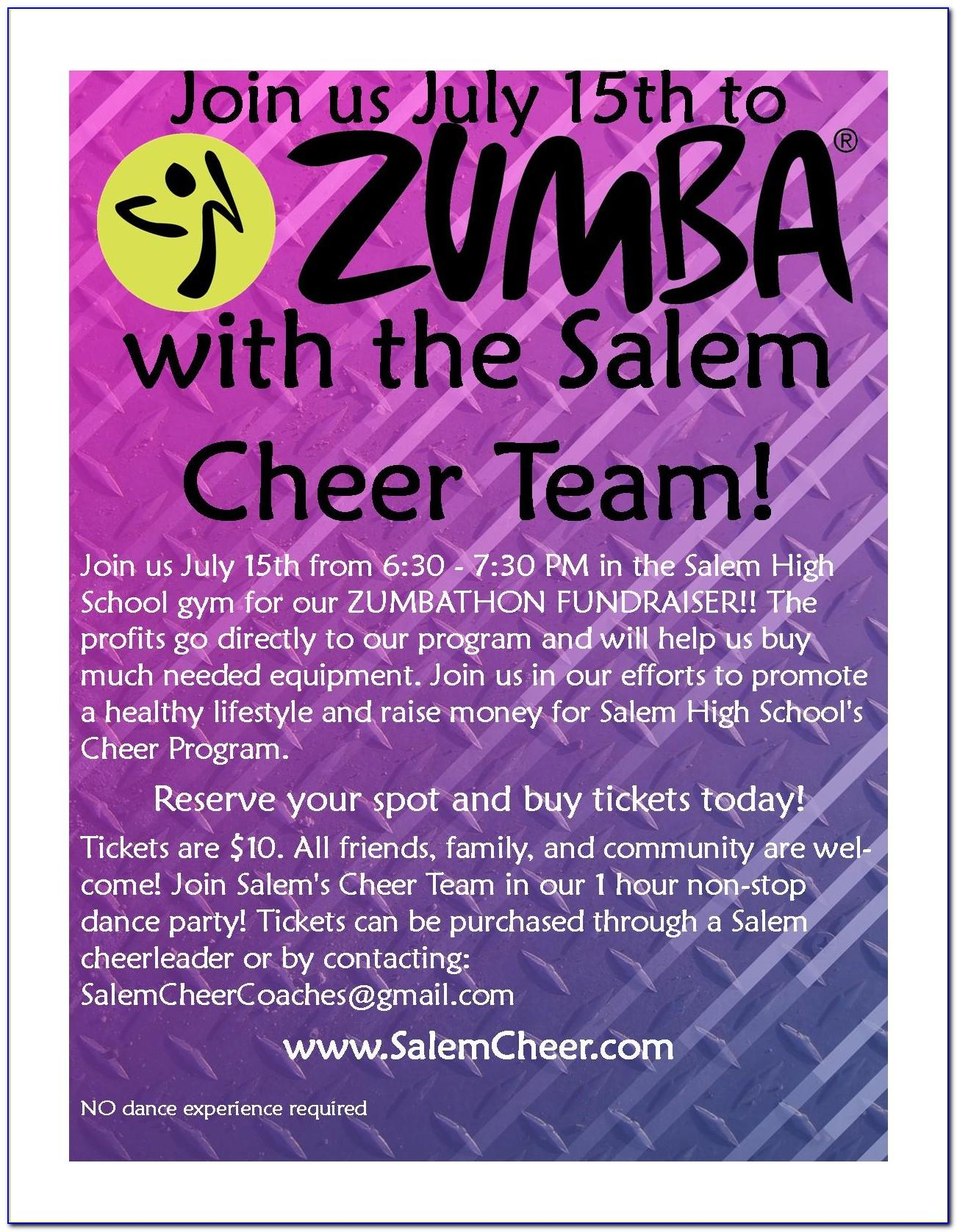 Zumba Ticket Template