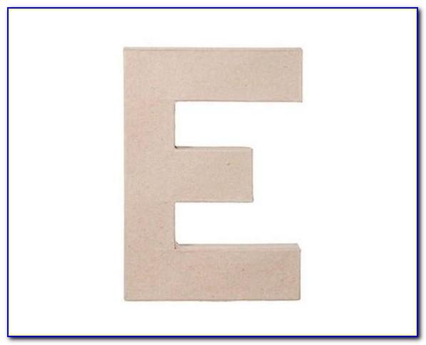 12 Inch Paper Mache Letter E