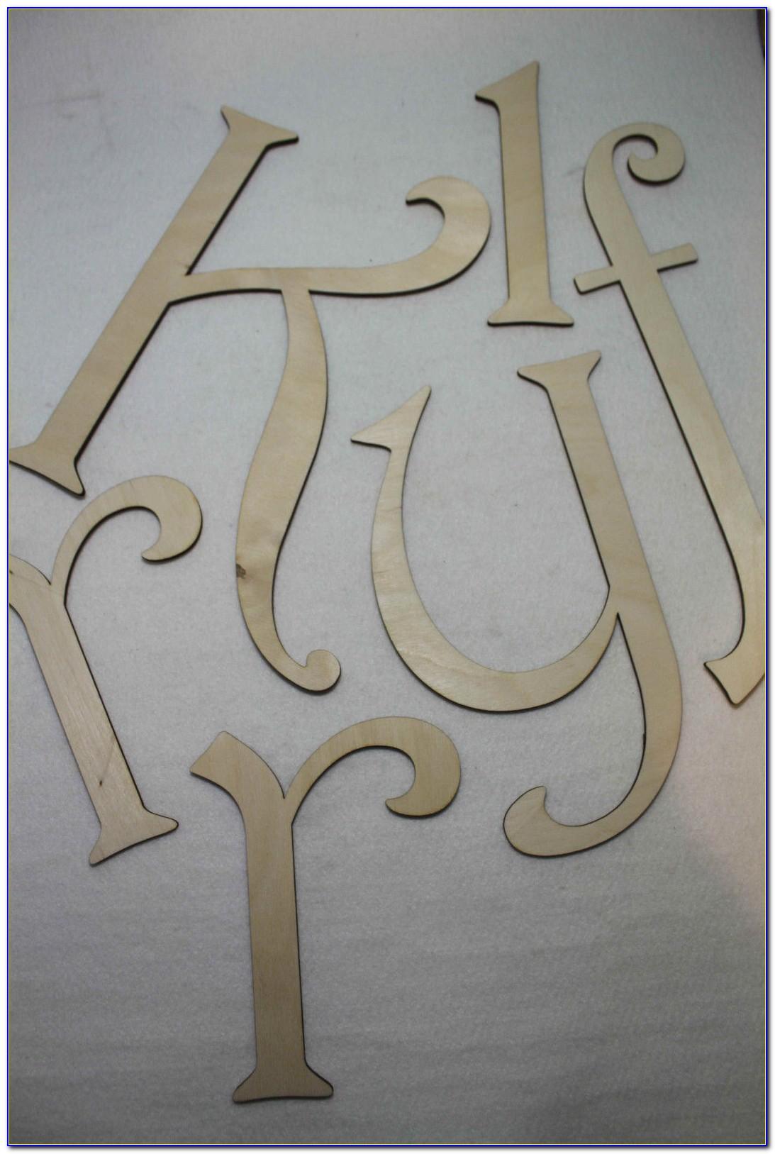 18 Inch Script Wooden Letters