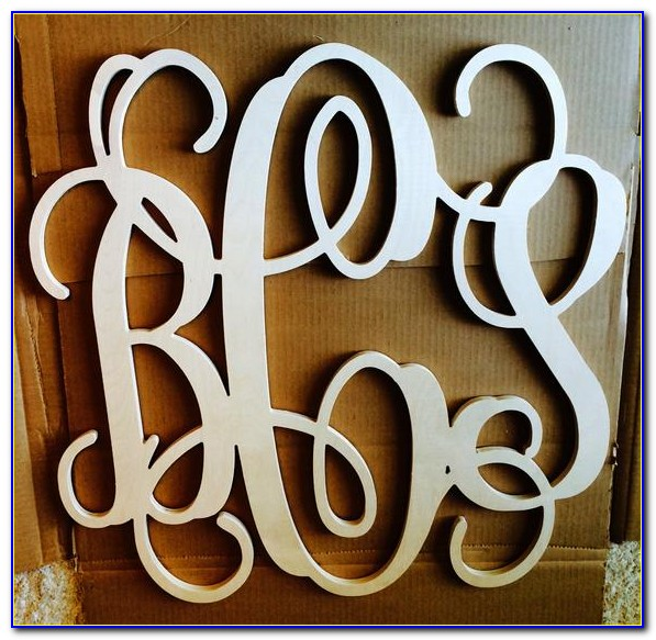 18 Inch Wooden Letter B