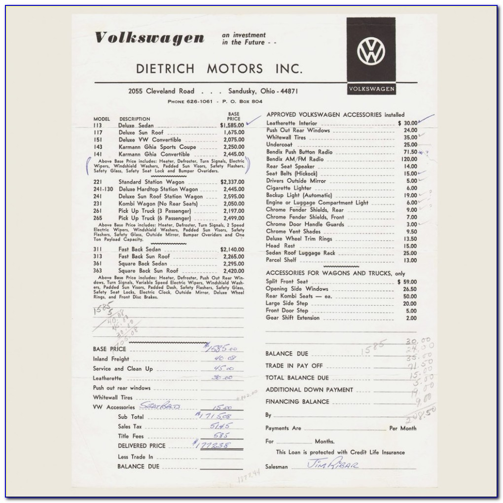 2018 Vw Tiguan Dealer Invoice