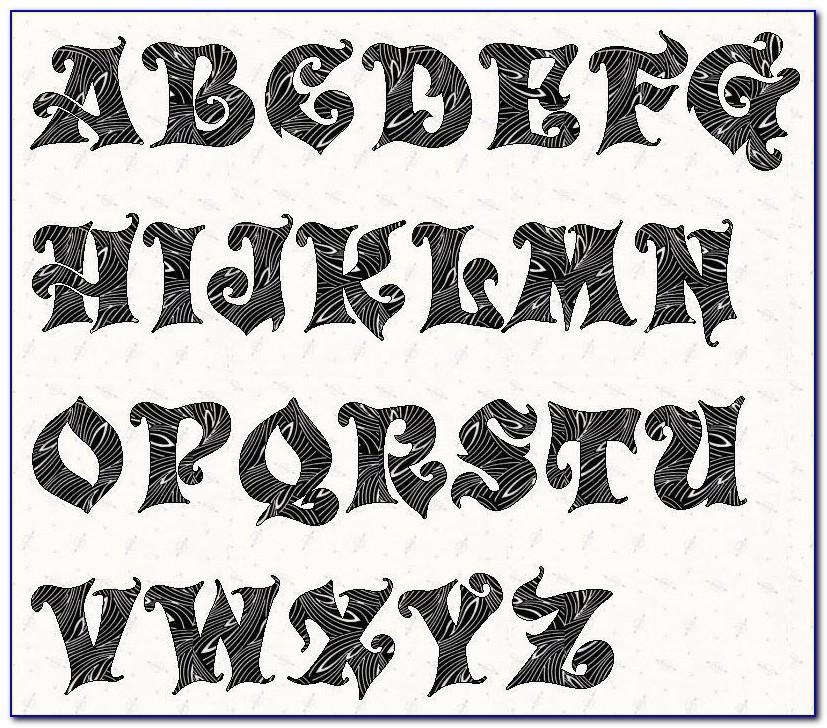 3 Block Letter Stencils