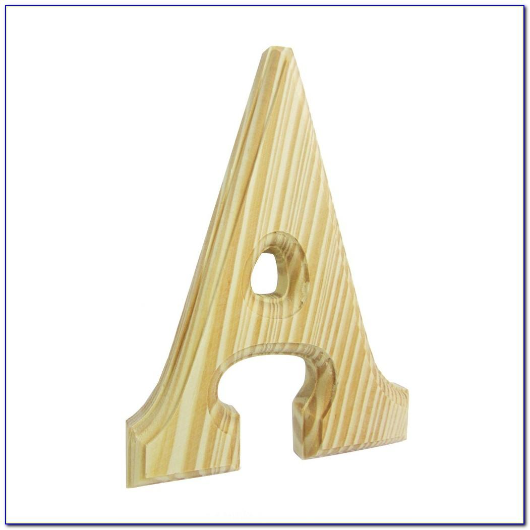 3 Inch Unfinished Wooden Letters
