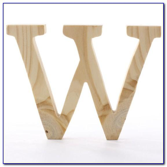 3 Inch White Wooden Letters