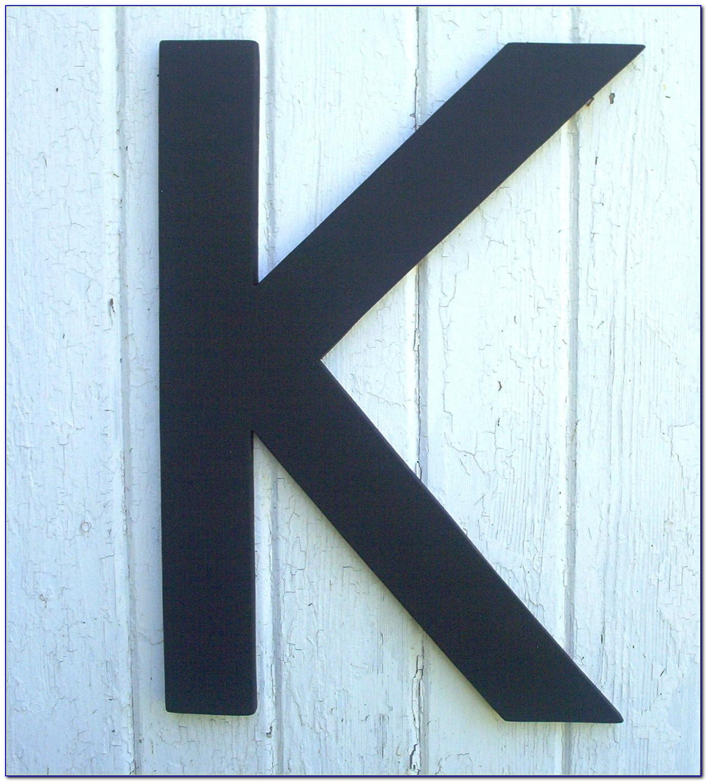4 Inch Black Wooden Letters