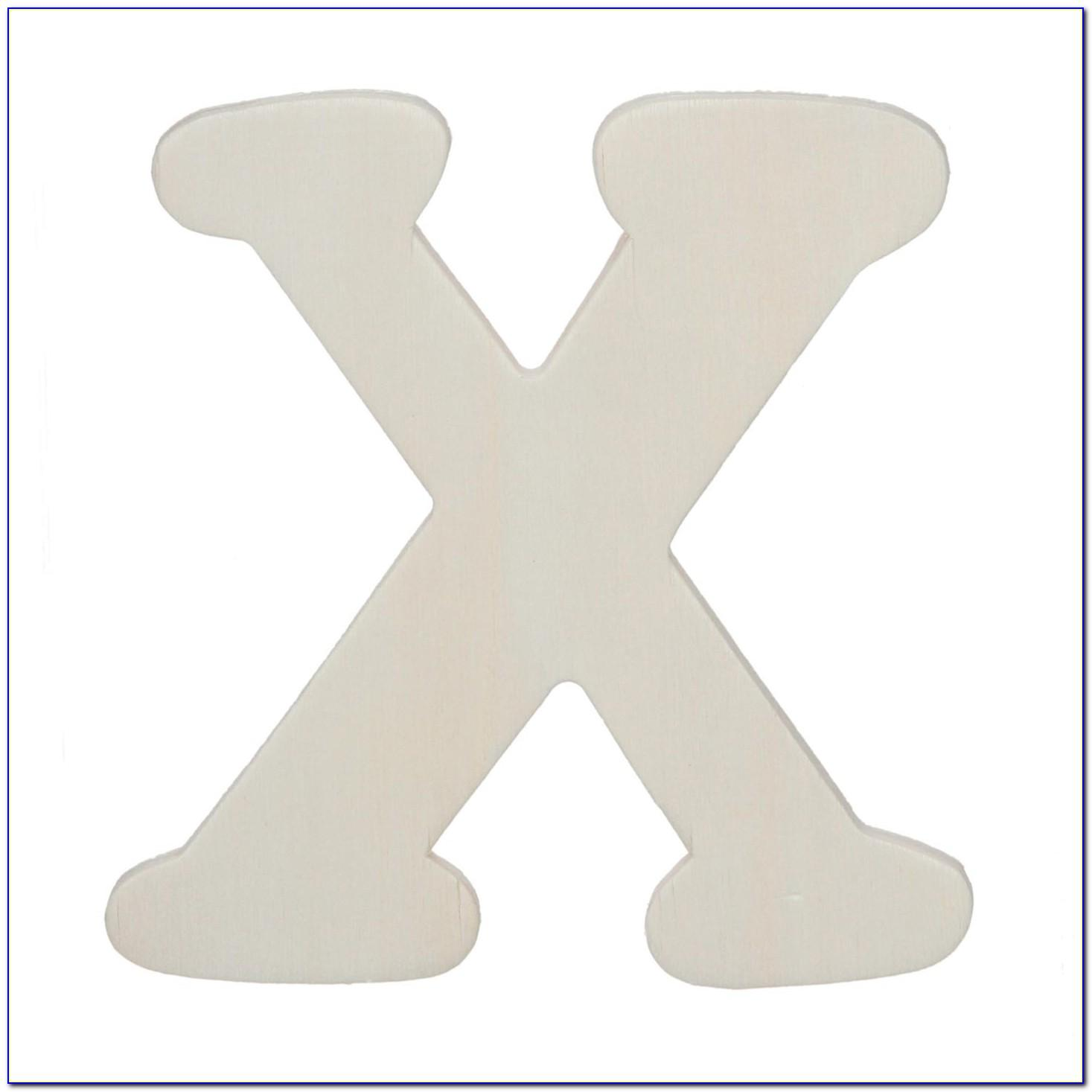 4 Inch White Wooden Letters