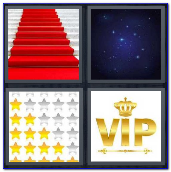 4 Pics 1 Word 6 Letters Red Carpet