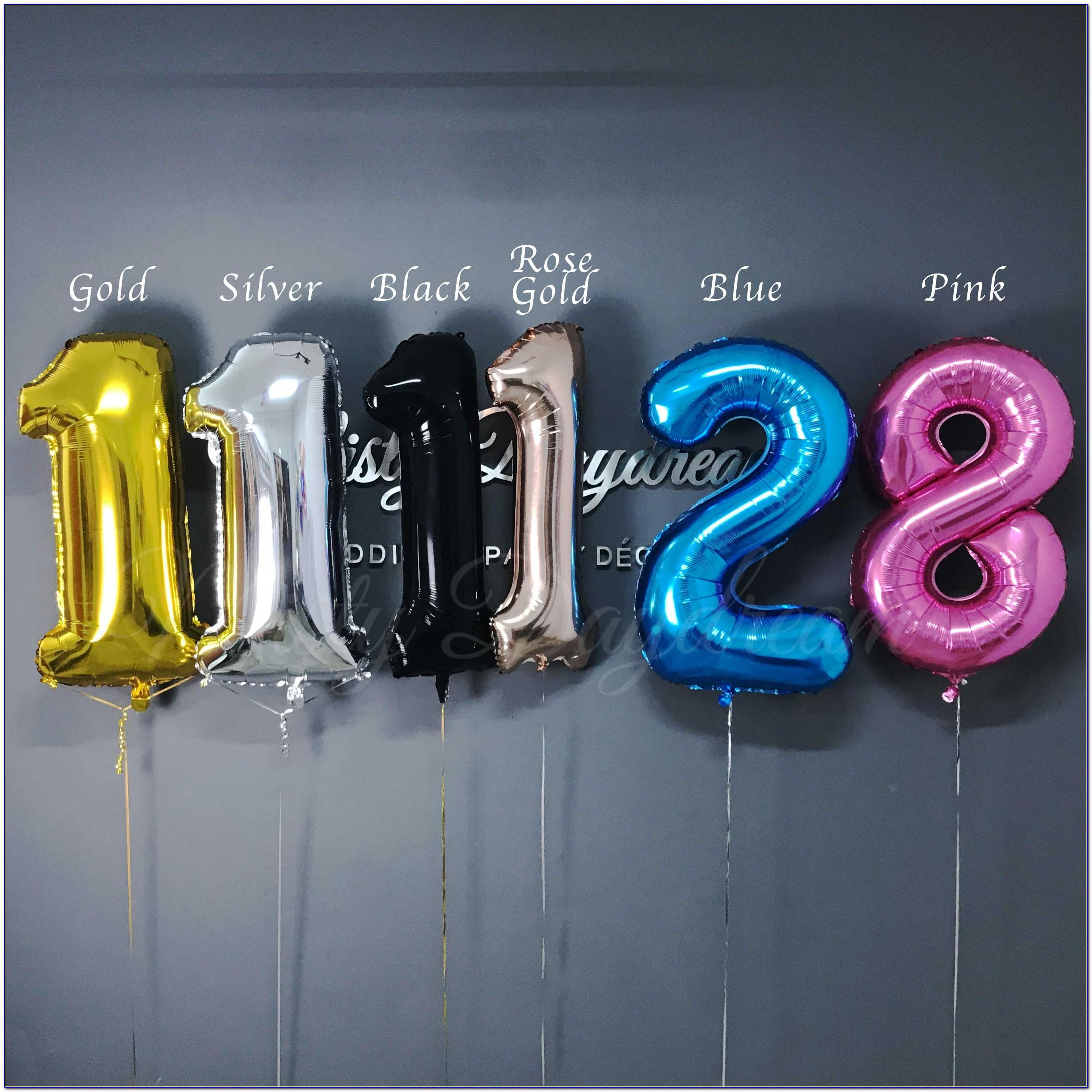 40 Inch Helium Letter Balloons