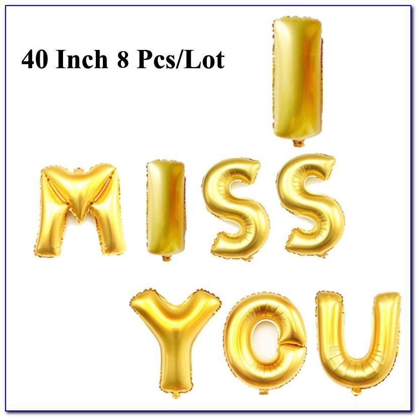 40 Inch Mylar Letter Balloons