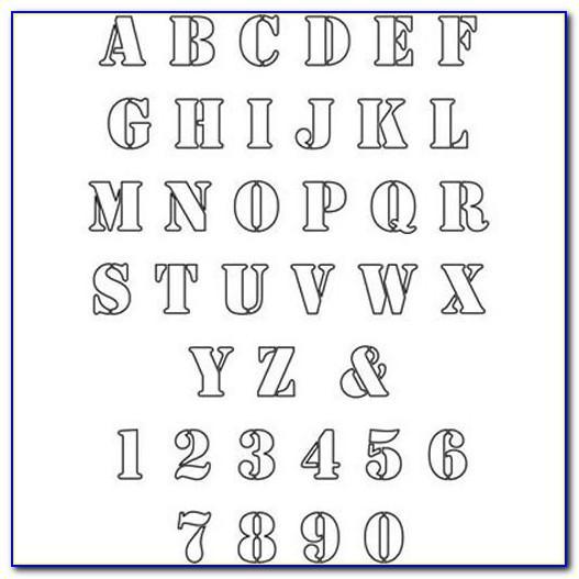 6 Block Letter Stencils