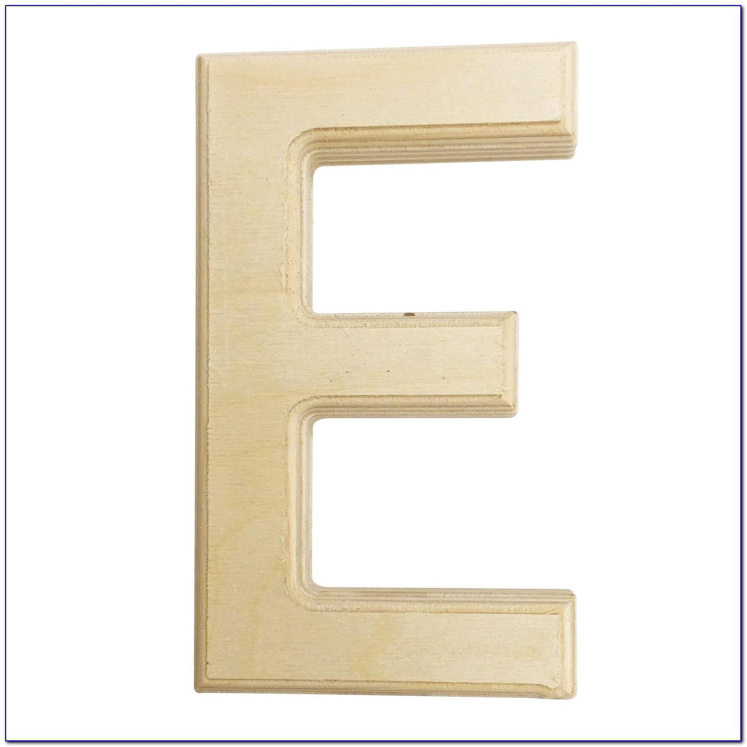 6 Inch White Wooden Letters