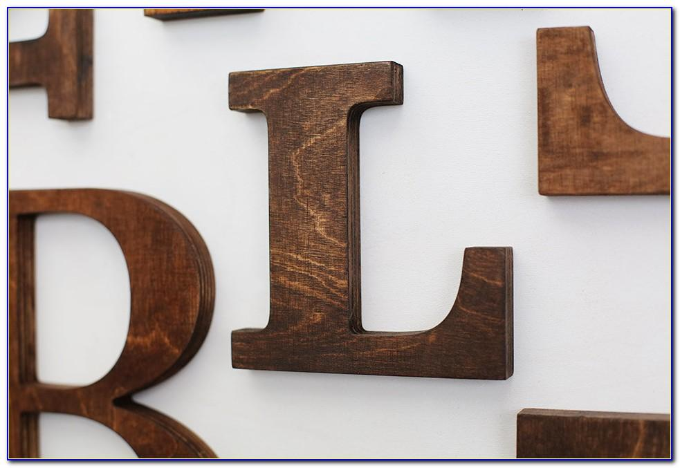 6 Inch Wooden Letters And Numbers