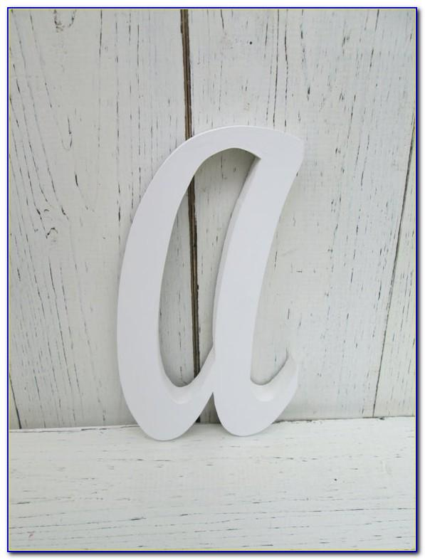 8 Classic Wooden Letters