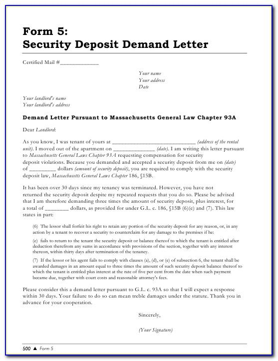 93a Demand Letter Business To Business