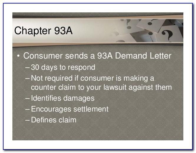 93a Demand Letter Mass