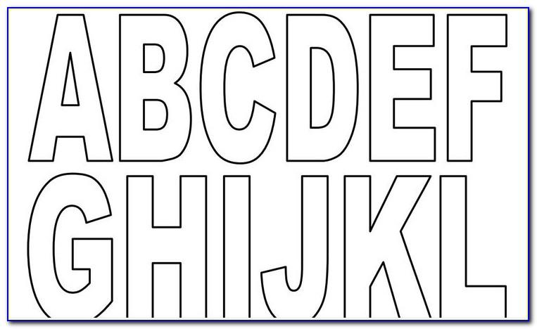 A4 Alphabet Letters To Print And Cut Out