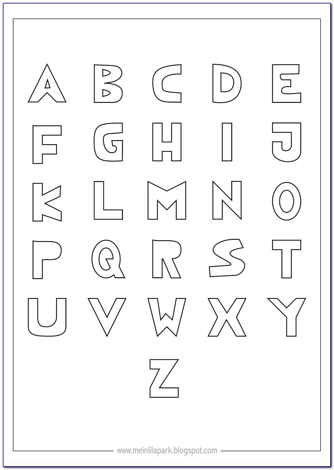 Abc Letters Printable Pdf