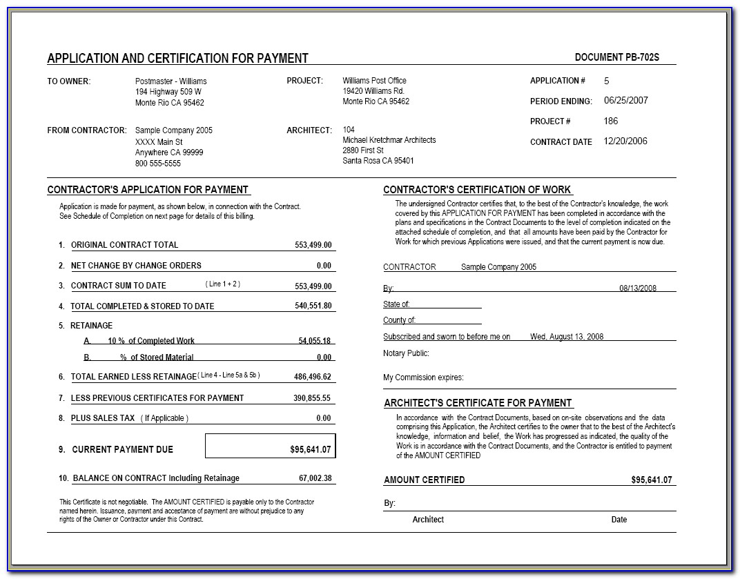 Aia Invoice Sample