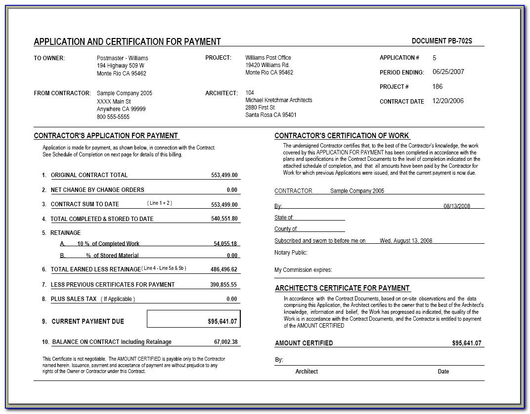 Aia Invoice Sample