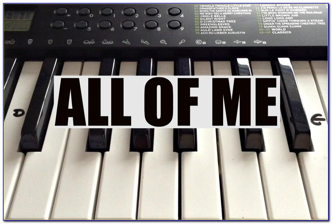 All Of Me Piano Letters Right Hand