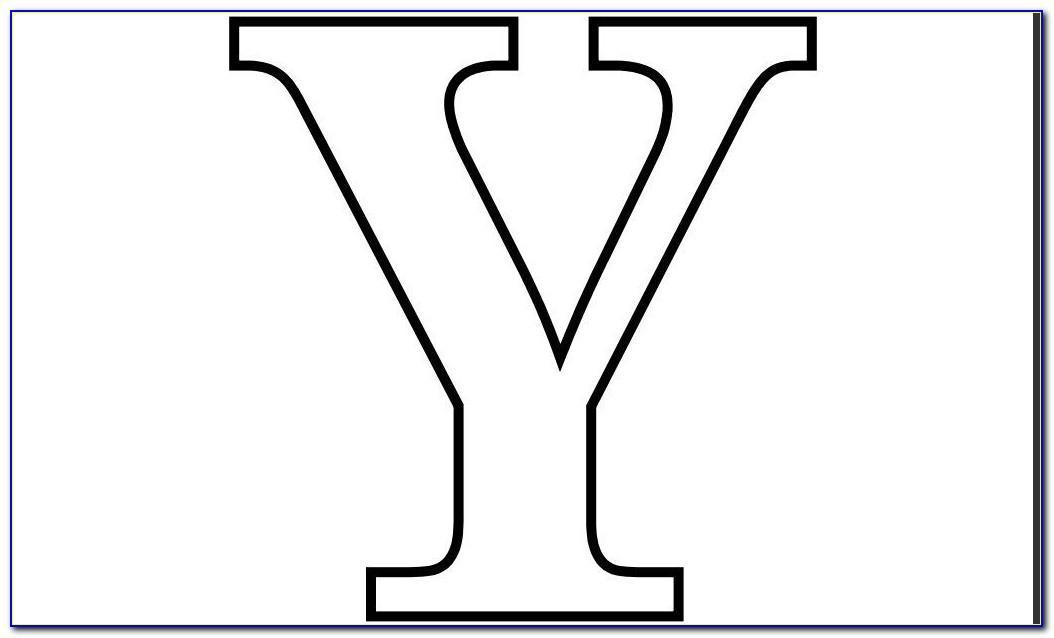 Alphabet Letter Templates Free Printable
