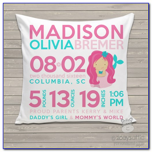 Baby Announcement Pillow Case
