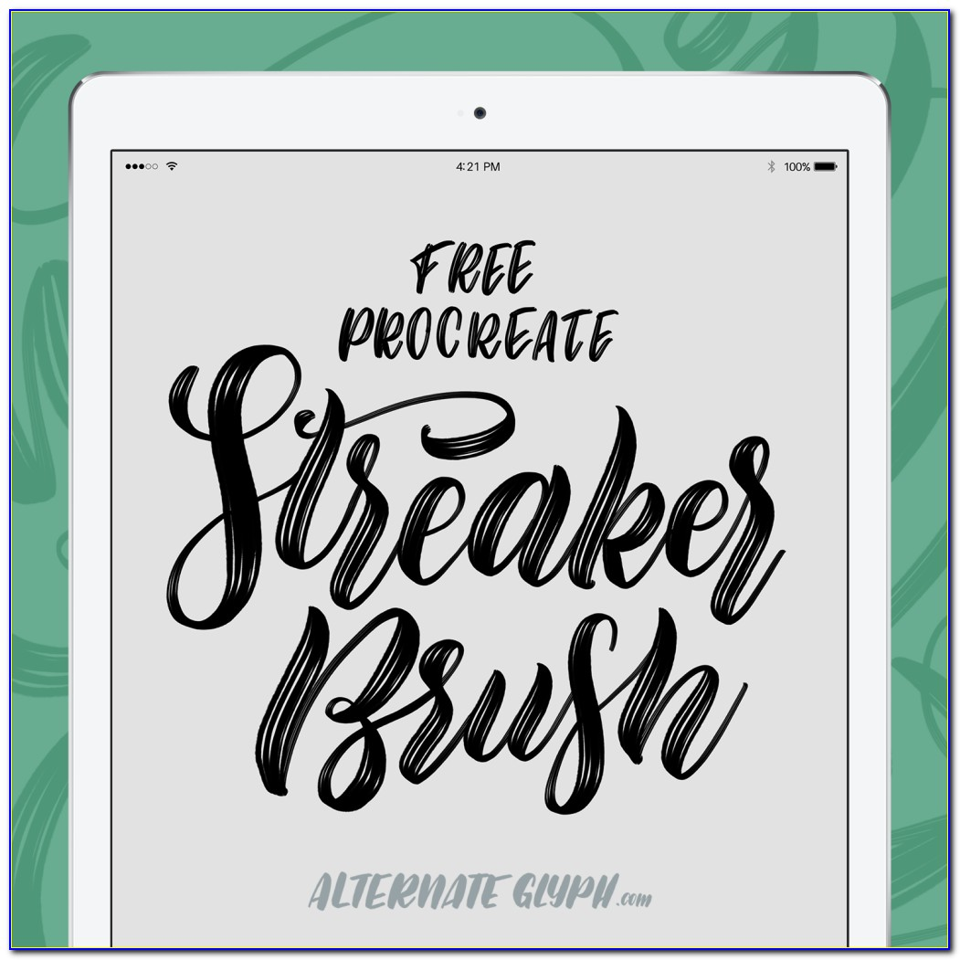 Best Free Procreate Lettering Brushes