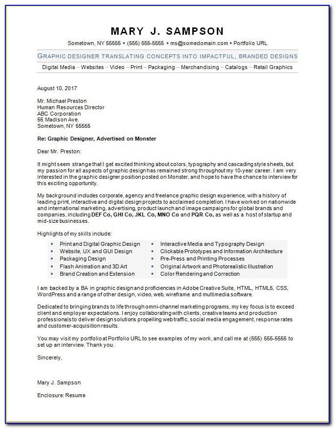 Best Graphic Design Cover Letter Examples