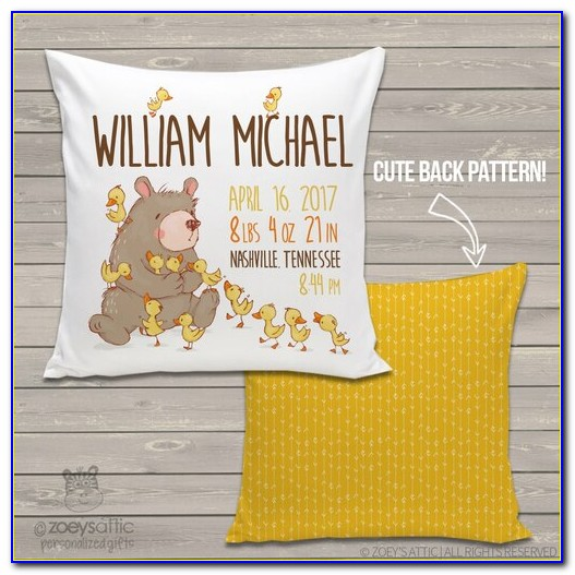 Birth Announcement Pillow Australia