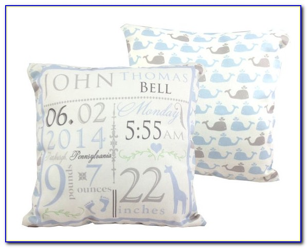 Birth Announcement Pillow Canada