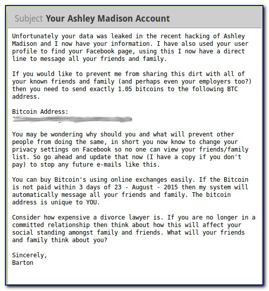 Bitcoin Blackmail Letter What To Do