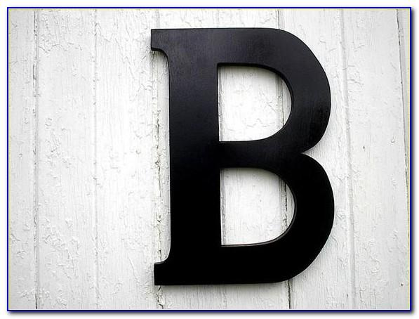 Black Wooden Letters For Wall
