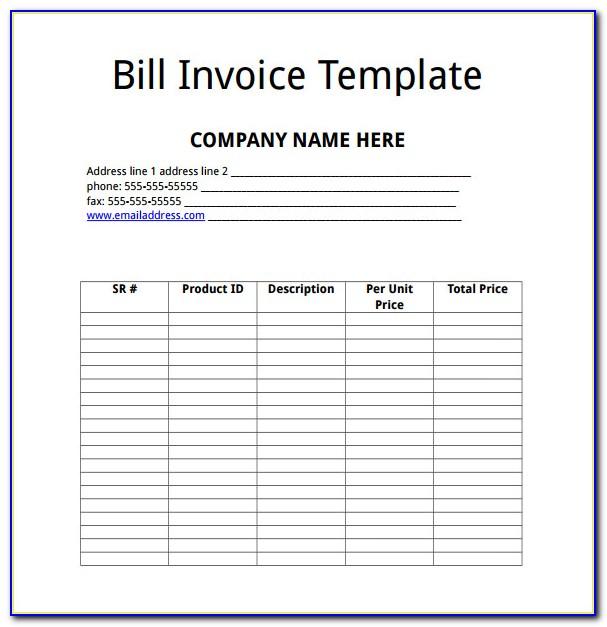 Blank Invoice Doc