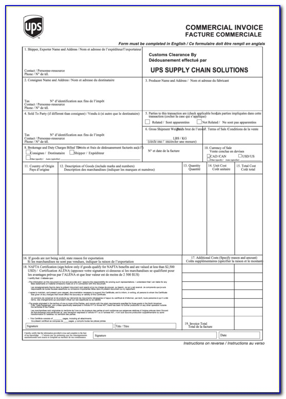Blank Invoice Fillable Pdf