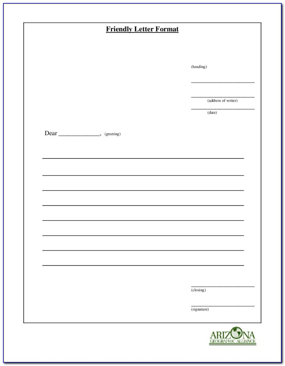 Blank Letter Template For First Grade