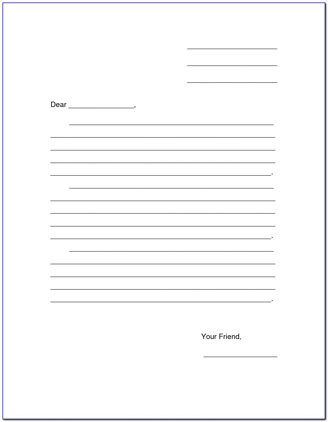 Blank Letter Template Free