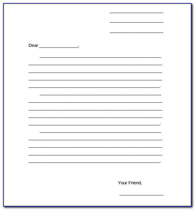 Blank Letter Template Ks1