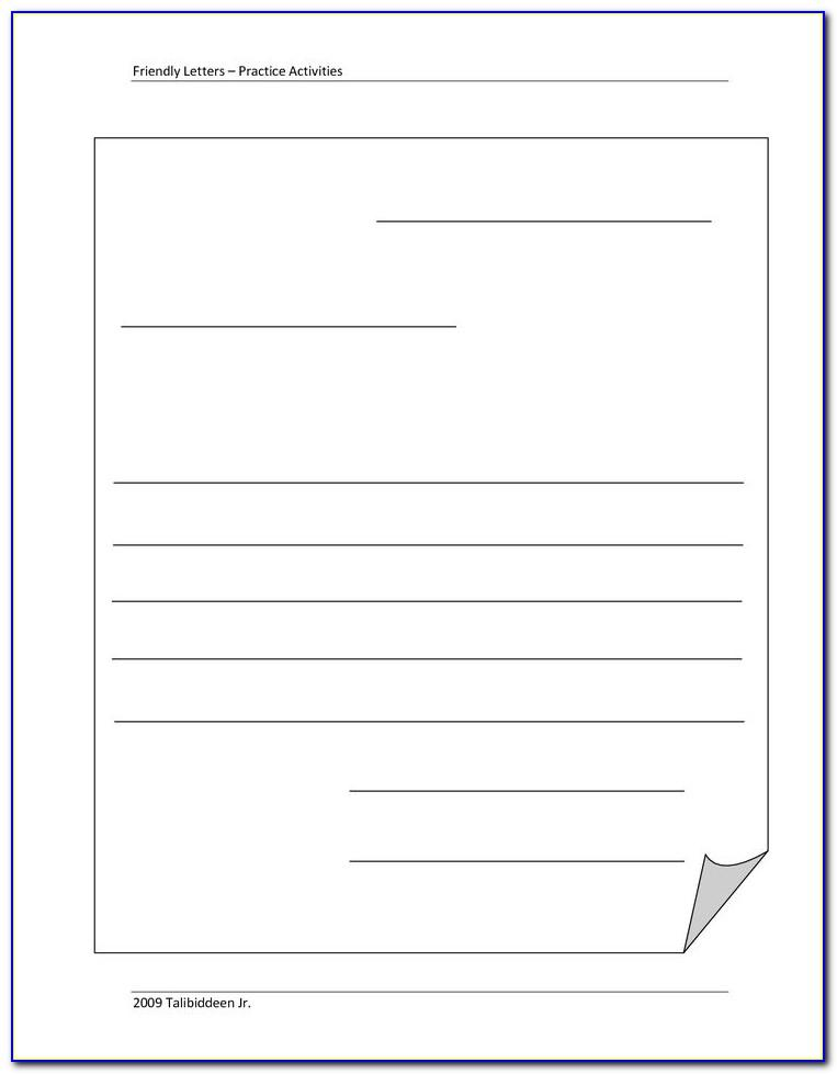 Blank Letter Template Word