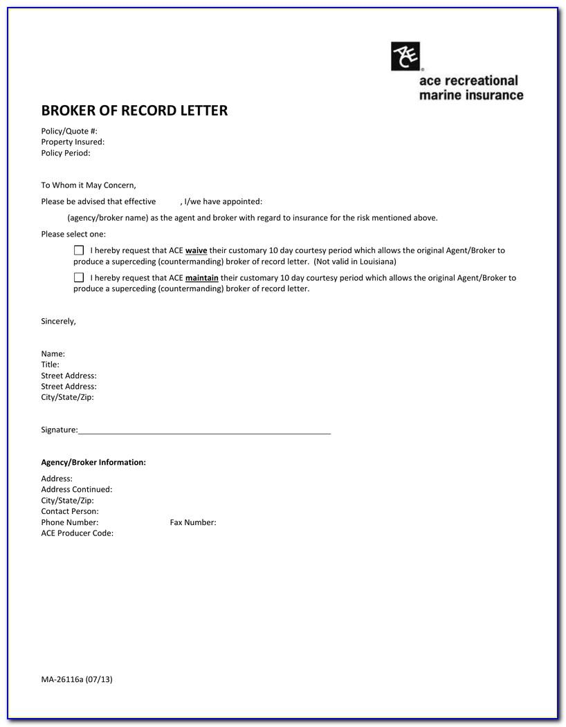 Broker Of Record Letter Rules