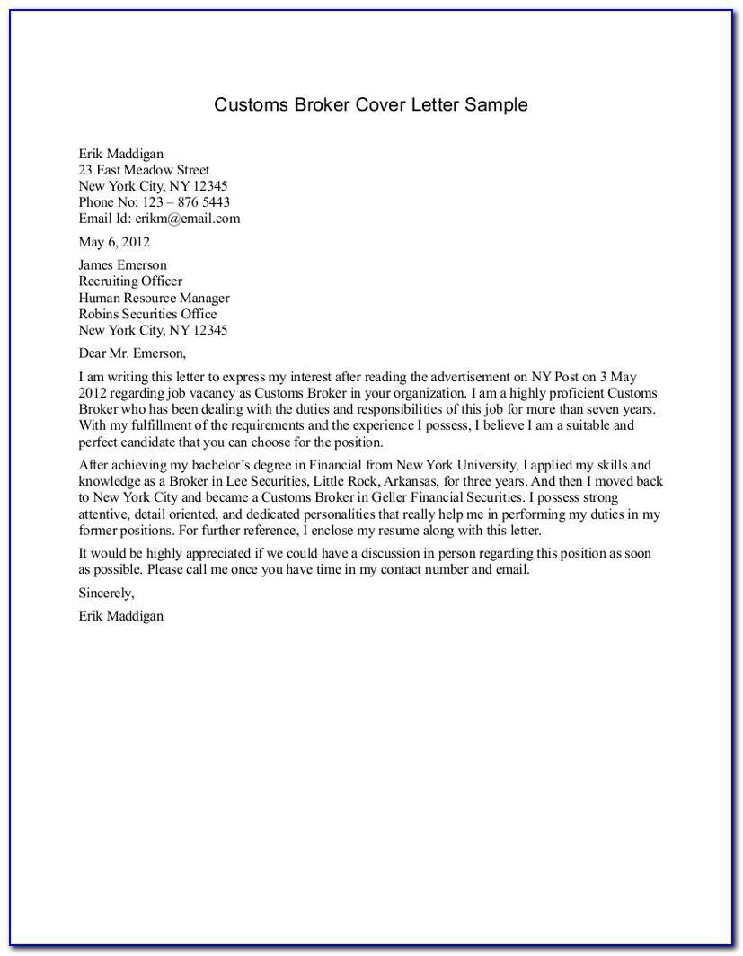 Broker Of Record Letter Sample Insurance