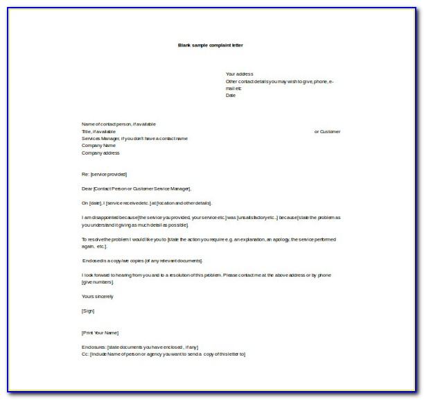 Business Letter Template Word 2016