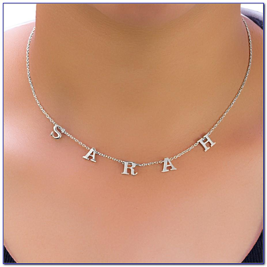 Bychari Spaced Letter Necklace